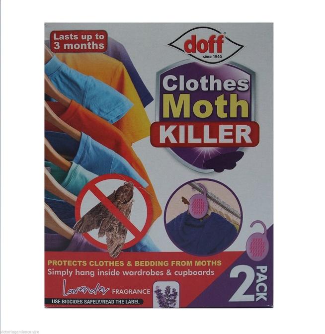 Doff 'Clothes' Moth Killer Wardrobe Hanger Twin Pack + Lavender Fragrance