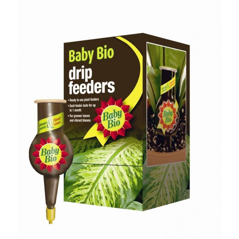 Baby Bio RTU 40ml Liquid Drip Feeders Plant Food 4 House Plants Pack x4